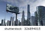 skyline of a futuristic city... | Shutterstock . vector #326894015