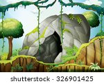 Cave In The Deep Forest...