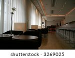 Dining bar in a casual and posh setting. - stock photo
