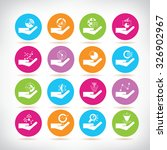 data icons  hand holding graph... | Shutterstock .eps vector #326902967