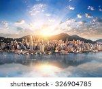 hong kong skyline. hongkong hdr ... | Shutterstock . vector #326904785