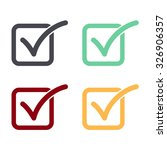 check list button icon set. | Shutterstock .eps vector #326906357