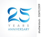 25 years old celebrating... | Shutterstock .eps vector #326912309