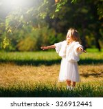 beautiful little blonde girl ... | Shutterstock . vector #326912441