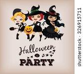 poster design for halloween... | Shutterstock .eps vector #326915711