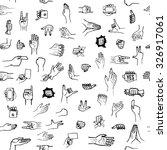 vector sketched hand gerstures... | Shutterstock .eps vector #326917061
