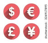 dollar  euro  pound and yen...   Shutterstock .eps vector #326917895
