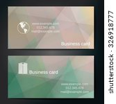 stylish business cards with... | Shutterstock .eps vector #326918777