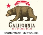 greeting from california with... | Shutterstock .eps vector #326923601