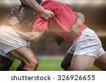 rugby fans in arena against... | Shutterstock . vector #326926655