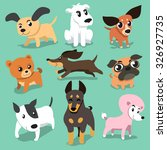 vector cartoon dogs | Shutterstock .eps vector #326927735