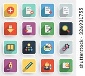 document modern flat icons with ... | Shutterstock .eps vector #326931755