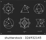 set of geometric shapes. trendy ... | Shutterstock .eps vector #326932145