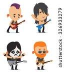 rock musicians | Shutterstock .eps vector #326933279