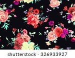 seamless floral pattern with... | Shutterstock . vector #326933927