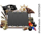 vector pirate frame with sail | Shutterstock .eps vector #326935265