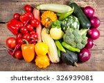 fresh vegetables on a wooden... | Shutterstock . vector #326939081