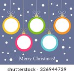 Christmas Balls Hanging. Vecto...