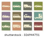 vehicles icon set | Shutterstock .eps vector #326944751