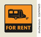 for rent icon or sign  vector... | Shutterstock .eps vector #326949605