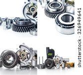car parts collage | Shutterstock . vector #326949641