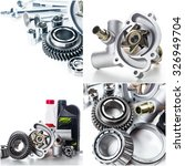 car parts collage | Shutterstock . vector #326949704