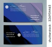 stylish business cards with... | Shutterstock .eps vector #326954465