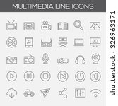 trendy line icons   multimedia | Shutterstock .eps vector #326963171