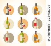set of vector alcohol icons in... | Shutterstock .eps vector #326966729