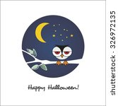 happy halloween greeting card... | Shutterstock .eps vector #326972135