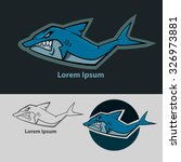 shark mascot  sport team logo ... | Shutterstock .eps vector #326973881