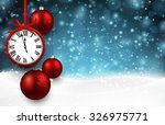 new year  background with red... | Shutterstock .eps vector #326975771
