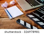 movie clapper with notepad and... | Shutterstock . vector #326978981