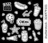 cinema doodle set. hand drawn... | Shutterstock .eps vector #326979101