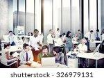 multiethnic group of people... | Shutterstock . vector #326979131