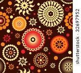 flowers seamless pattern | Shutterstock .eps vector #32697952