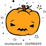 sad halloween pumpkin | Shutterstock .eps vector #326980694