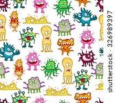 colored cartoon monsters... | Shutterstock .eps vector #326989397