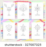 set of vector geometric alchemy ...