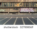 Graffiti Wall Road Markings An...