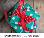 gifts in a beautiful and... | Shutterstock . vector #327011009