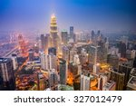 kuala lumpur  malaysia city... | Shutterstock . vector #327012479