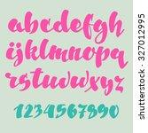 brush pen style vector alphabet ... | Shutterstock .eps vector #327012995