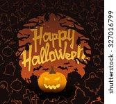 retro vintage halloween vector... | Shutterstock .eps vector #327016799