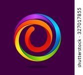 o letter colorful logo in the... | Shutterstock .eps vector #327017855