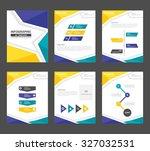 blue yellow green multipurpose... | Shutterstock .eps vector #327032531