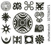 african traditional motifs... | Shutterstock . vector #327036371