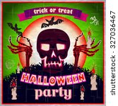 halloween party design template ... | Shutterstock .eps vector #327036467