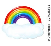 rainbow with gradient mesh ... | Shutterstock .eps vector #327036581