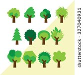 Set Of Different Simple Trees.